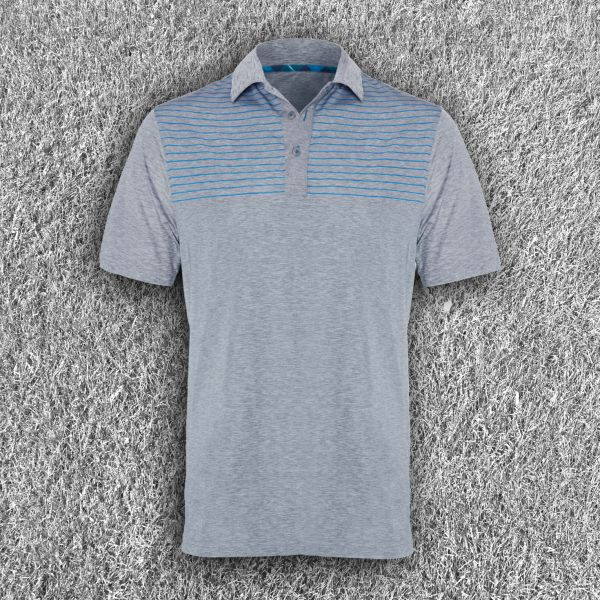 Performance Grey and Blue Polo Shirt